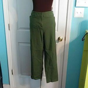 LOFT Plus Marissa SIze 22 Army Green Pants